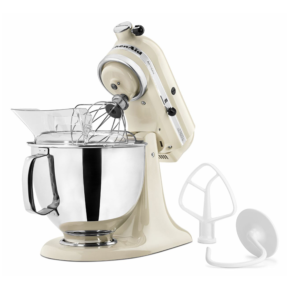 KitchenAid KSM150PSAC Artisan Series 5-Quart Mixer, 10 Speed, Almond Cream