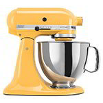 KitchenAid KSM150PSBF Artisan Series 5-Quart Mixer, 10 Speed, Buttercup