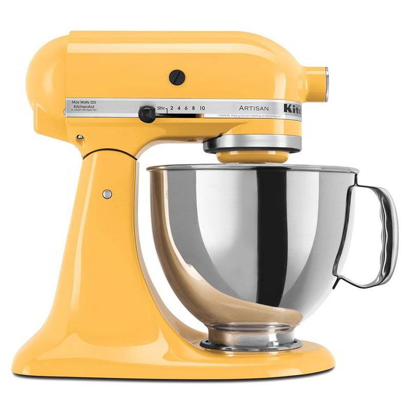 KitchenAid KSM150PSBF Artisan Series 5-Quart Mixer, 10 Speed, Buttercup