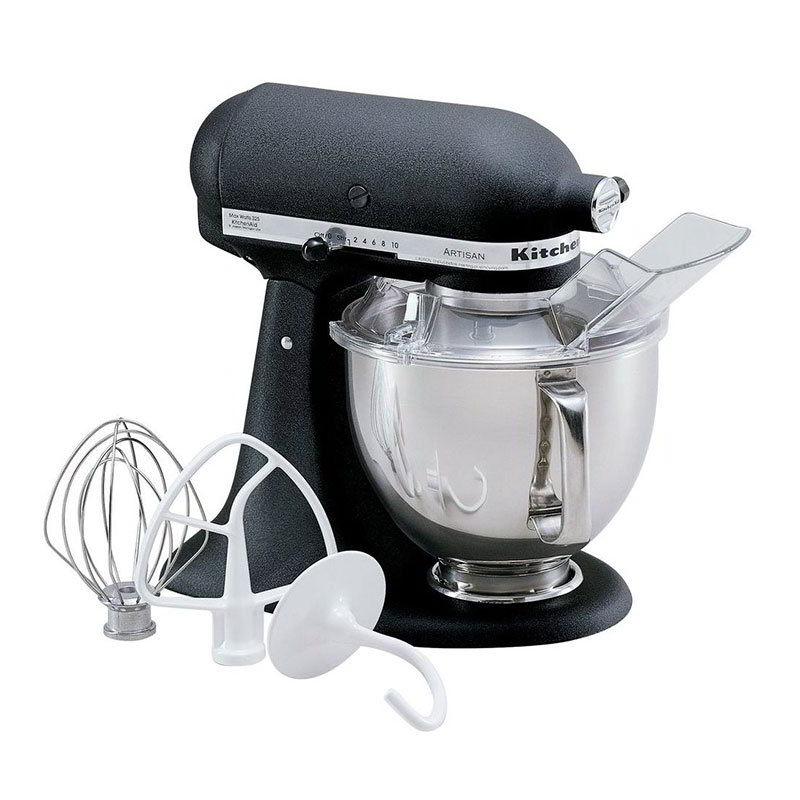 KitchenAid KSM150PSBK Artisan Series 5-Quart Mixer, 10 Speed, Imperial Black