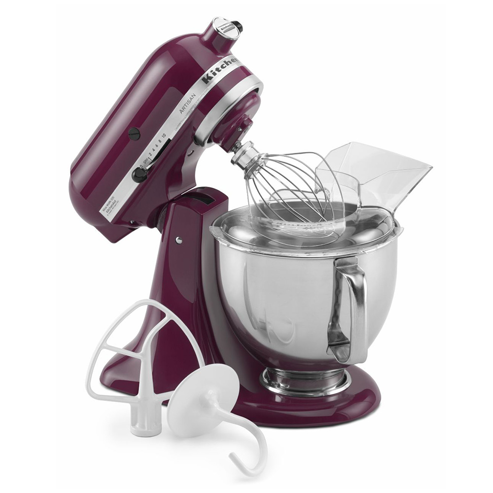 KitchenAid KSM150PSBY Artisan Series 5-Quart Mixer, 10 Speed, Boysenberry