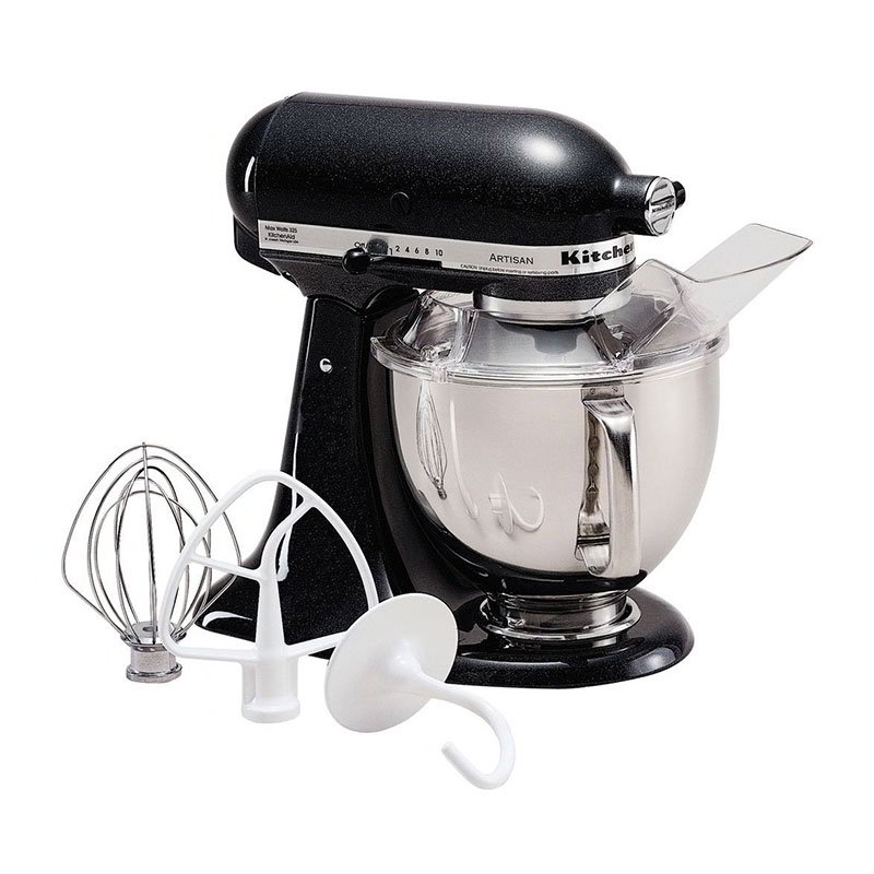KitchenAid KSM150PSCV Artisan Series 5-Quart Mixer, 10 Speed, Caviar