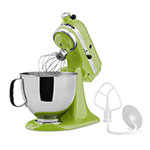 KitchenAid KSM150PS 5-qt Artisan Mixer - 10-Speed, Flat Beater, Dough Hook, Wire Whip, 325-W, 115V