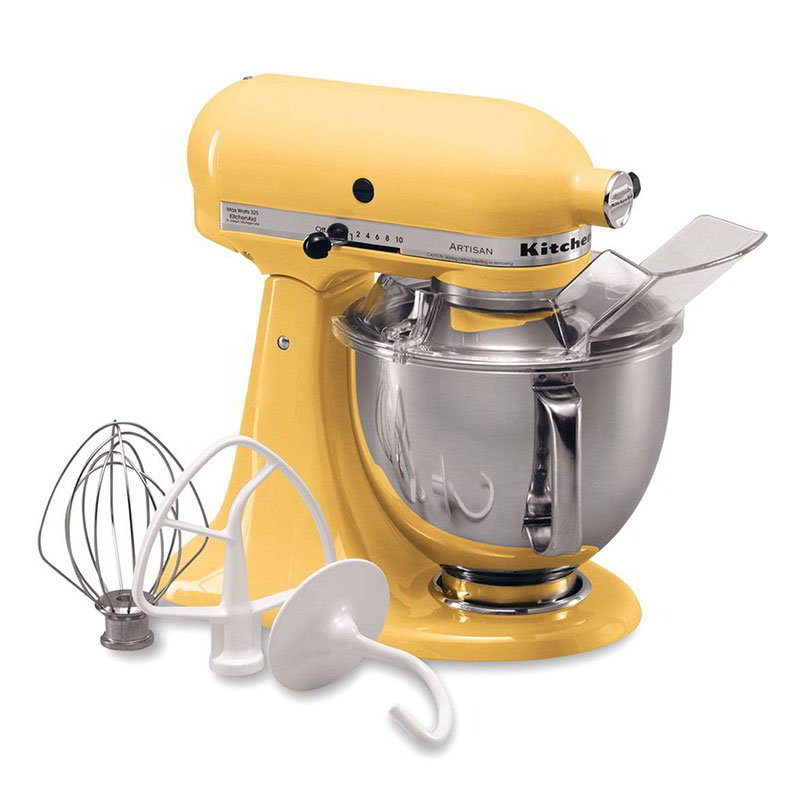 KitchenAid KSM150PSMY Artisan Series 5-Quart Mixer, 10 Speed, Majestic Yellow
