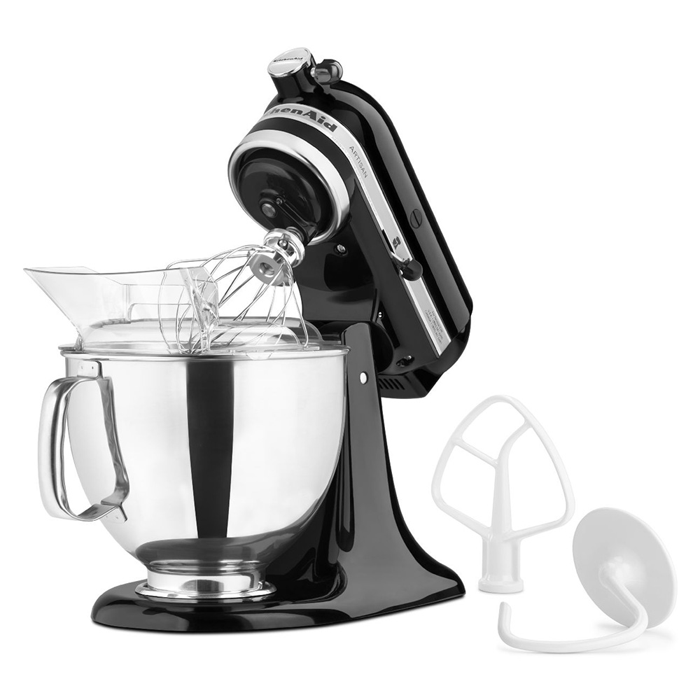 KitchenAid KSM150PSOB Artisan Series 5-Quart Mixer, 10 Speed, Onyx Black