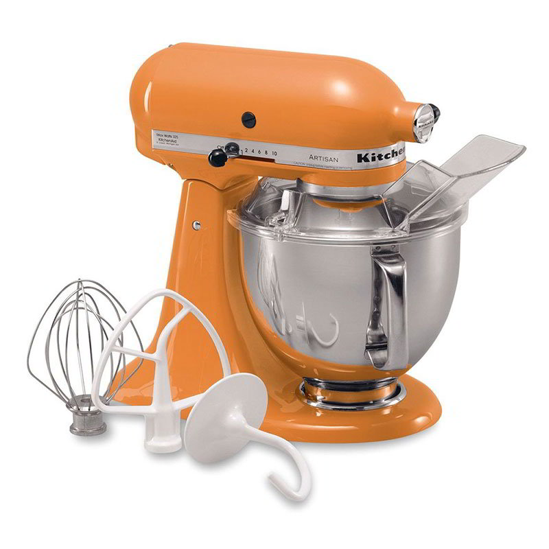 KitchenAid KSM150PSTG Artisan Series 5-Quart Mixer, 10 Speed, Tangerine