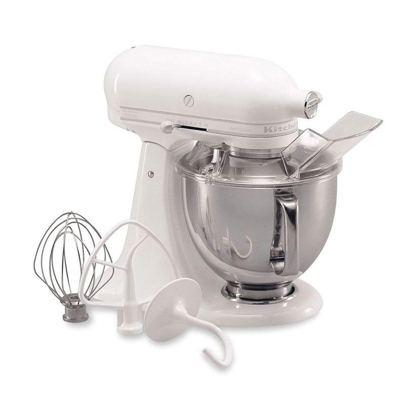 KitchenAid KSM150PSWW Artisan Series 5-Quart Mixer, 10 Speed, White on White