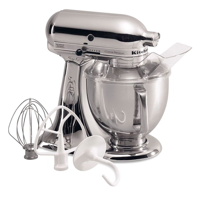 KitchenAid KSM152PSCR Stand Mixer w/ Pouring Shield, 5-Quart, Metallic Chrome