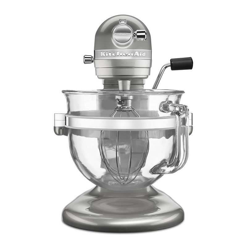 kitchenaid ksm6521xsr 6 qt stand mixer 10 speed sugar pearl silver
