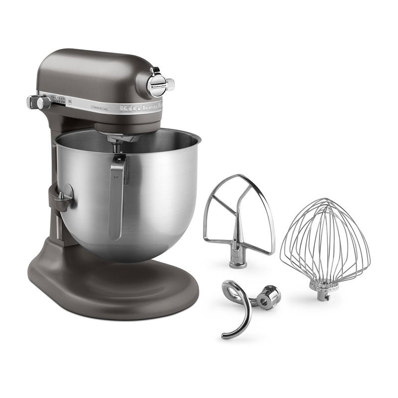 KitchenAid KSM8990DP Commercial Stand Mixer w/ 8-qt Bowl & Lift, Pewter