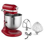 KitchenAid KSM8990ER 8-qt Bowl Lift Stand Mixer w/ 1.3-HP Motor & Accessory Set, Empire Red