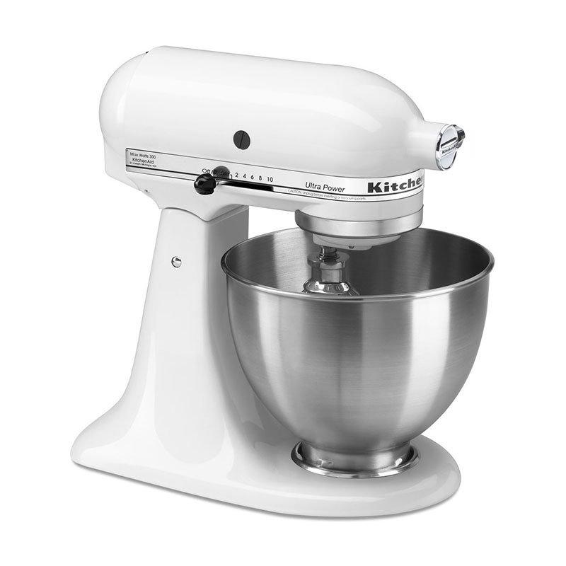 KitchenAid KSM95WH Ultra Power Series Mixer, 4-1/2 Qt, White