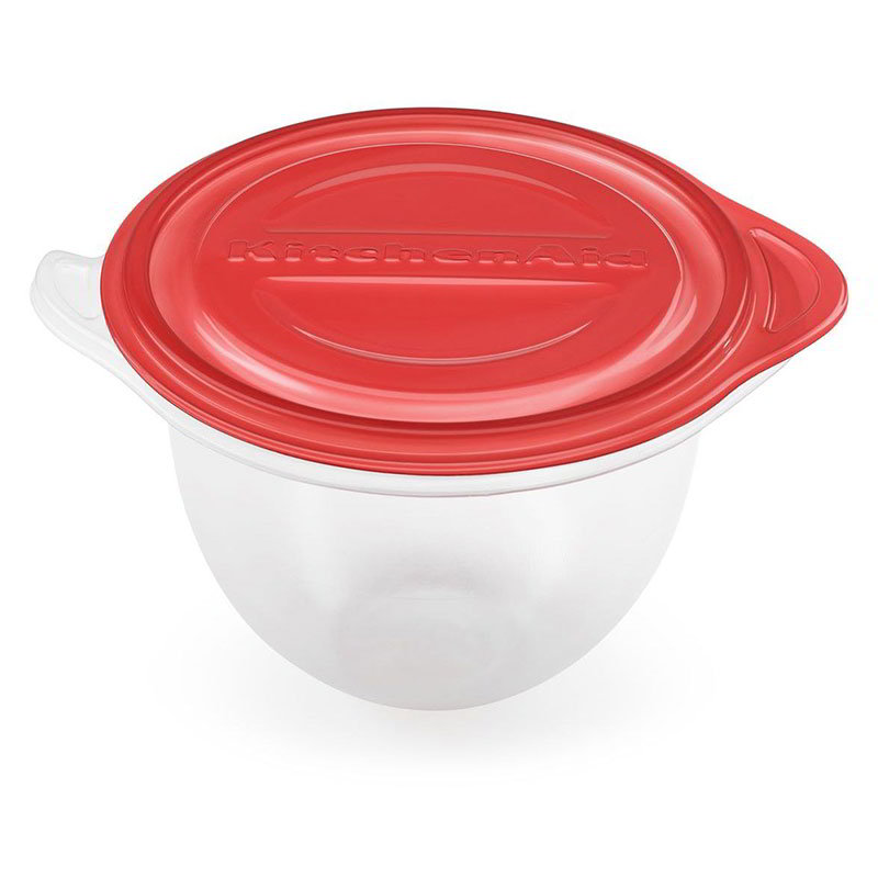 KitchenAid KSMBLT 5-qt Bowl Liners for KitchenAid 4.5-5-qt Stand Mixers, Red Lid