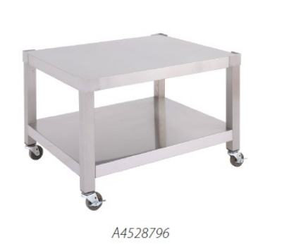 Garland A4528351 36-in Equipment Stand, Base w/ Shelf, Swivel Casters, Stainless