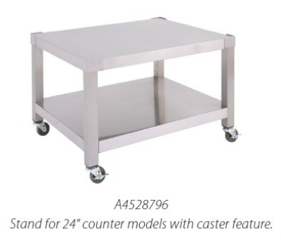 Garland A4528803 Open Base 72-in Equipment Stand, Adjustable Feet, Stainless