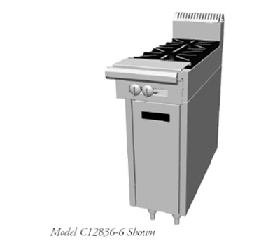 "Garland C12836-6 12"" 2-Burner Gas Range, NG"