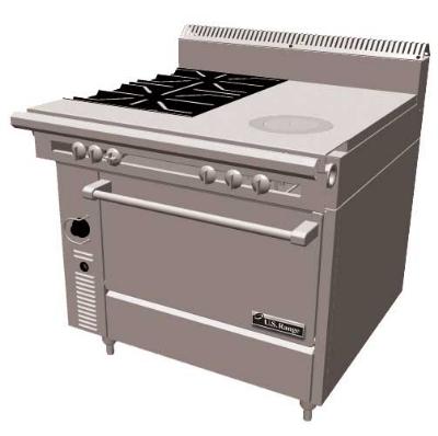 Garland C836-17 36 in Cuisine Heavy Duty Range 1 Left Hot Top Restaurant Supply
