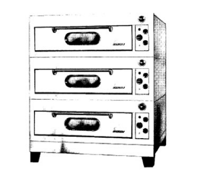 Garland E2111 2401 Triple Deck Type Bake Oven w/ 3/4-in Core Plate Hearth, 240/1 V
