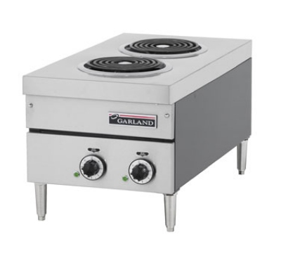 Garland E24-12H 2083 Countertop E24 Series Hotplate, 15 in W, (2) Flat Elements, 208/3 V