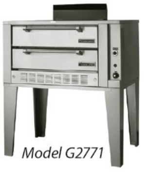 Garland G2072 NG Double Deck Bake Oven w/ 3/4-in Hearthite Decks, NG