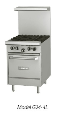 Garland G24-2G12S LP 24-in Range w/ 2-Burners & Gridd
