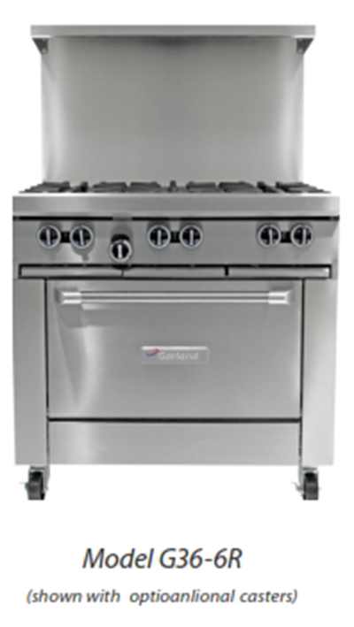 "Garland G36-G36R 36"" Gas Range with Griddle, NG"