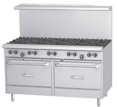 Garland / US Range G60-2G48SS LP G Starfire Pro Series Range 60 in 2 Burners Griddle 2 Storage Bases LP Restaurant Supply