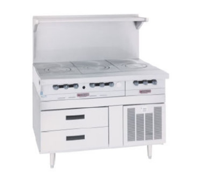 Garland GN17FR53 53-in Freezer Base w/ 4-Self Closing Drawers, Stainless Exterior
