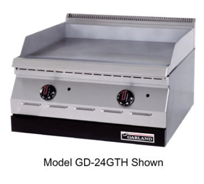 Garland GD-15GTH 15-in Countertop Griddle w/ 1/2-in Steel Plate, High/Lo Valve, NG