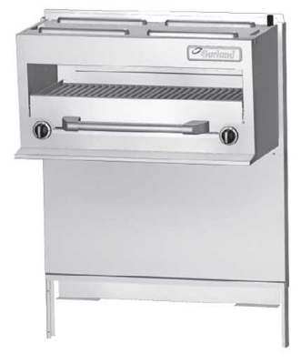 Garland GFIR36 NG 35-1/2 in Salamander Broiler for GF36 Range, 2 Infrared Burners, NG