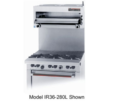 Garland GIR36C NG 36 in Countertop Salamander Broiler, 2 Infrared Burners, NG