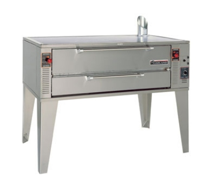 Garland GPD-48 LP 48-in Double Deck Pizza Oven w/ 1.5-in Pyrorock Hearth, LP