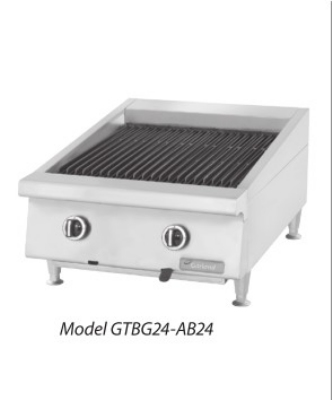 Garland GTBG24-NR24 NG 24 in Garland Countertop Charbroiler, Non-Adjustable Cast Iron Grates, NG