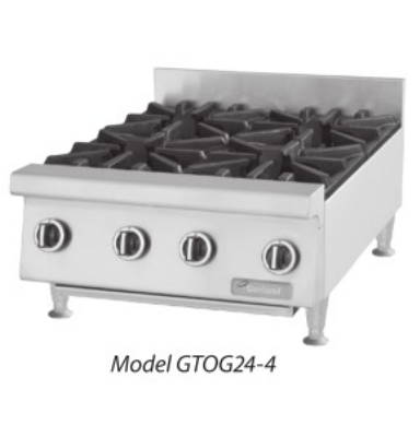Garland GTOG24-4 NG 24-in Hotplate w/ 4-Burners & Manual Controls, NG