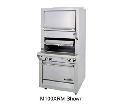 Garland M100XRM NG Deck Type Broiler w/ Finishing Oven & Standard Oven Base, NG