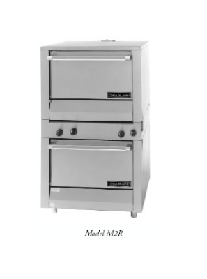 Garland M2R LP Master Series Oven, Heavy Duty Range Match, Stacked Standard Ovens, LP