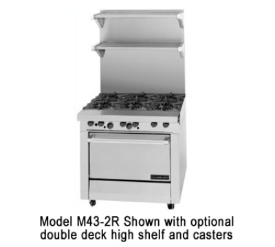 Garland M43-1R NG 34-in Range w/ 4-Burners & Hot Top, Standard Oven, NG
