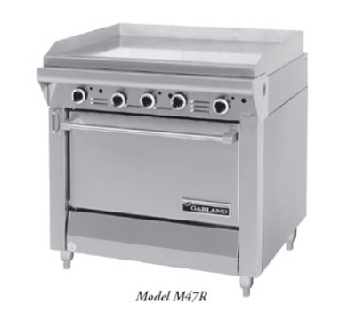 Garland / US Range M48-45S LP Master Series Heavy Duty Range 68 in 4 Burners Fry Top w/ Thermo Cabinet LP Restaurant Supply