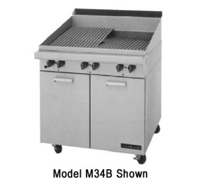Garland / US Range MST24B NG Master Series Charbroiler 24 in x 23 Briquettes Spark Ignition NG Restaurant Supply
