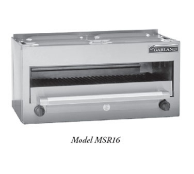 Garland MSTSR16 LP 34-in Salamander Broiler w/ 2-Burners, All Stainless, LP