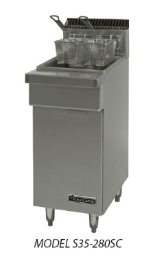 Garland S680-18FM-EH Sentry Fryer Drain Cabinet, 18 in W, Range Match w/ Top Drainer Sectio