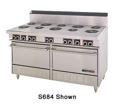 "Garland SS684 2081 60"" 10-Sealed Element Electric Range, 208/1v"