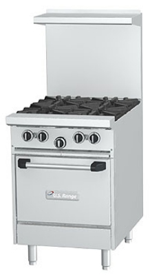 Garland U24 4L NG 24-in Range w/ 4-Burners, Back