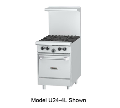 "Garland U24 24"" 4-Burner Gas Range, LP"