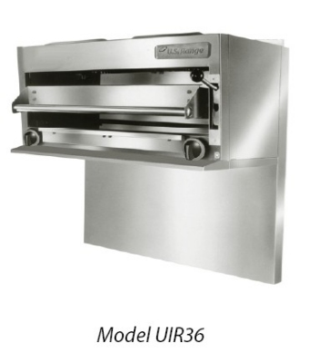 Garland UIR36C LP 36-in Countertop Salamander Broiler w/ 3-Rack Positions, LP