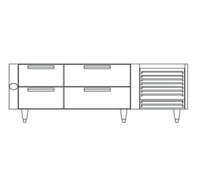 "Garland UN17FC66 66"" Chef Base w/ (4) Drawers - 115v"