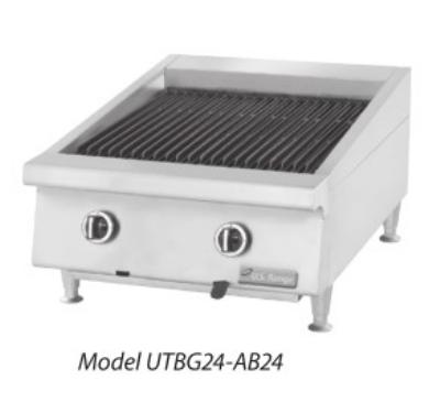 Garland / US Range UTBG60-AB60 LP 60 in Countertop Charbroiler Ceramic Adjustable Cast Iron Grates LP Restaurant Supply