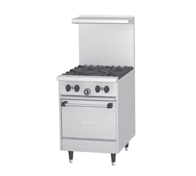 "Garland X244LLP 24"" Sunfire 4-Burner Gas Range, LP"