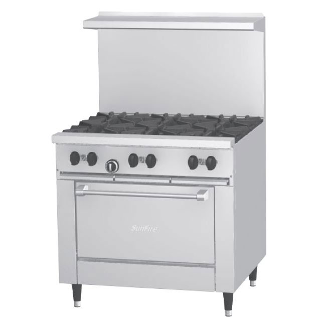 "Garland X36-2G24S 36"" Sunfire 2-Burner Gas Range with Griddle, LP"