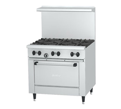 "Garland X36-6R-LP 36"" Sunfire 6-Burner Gas Range, LP"